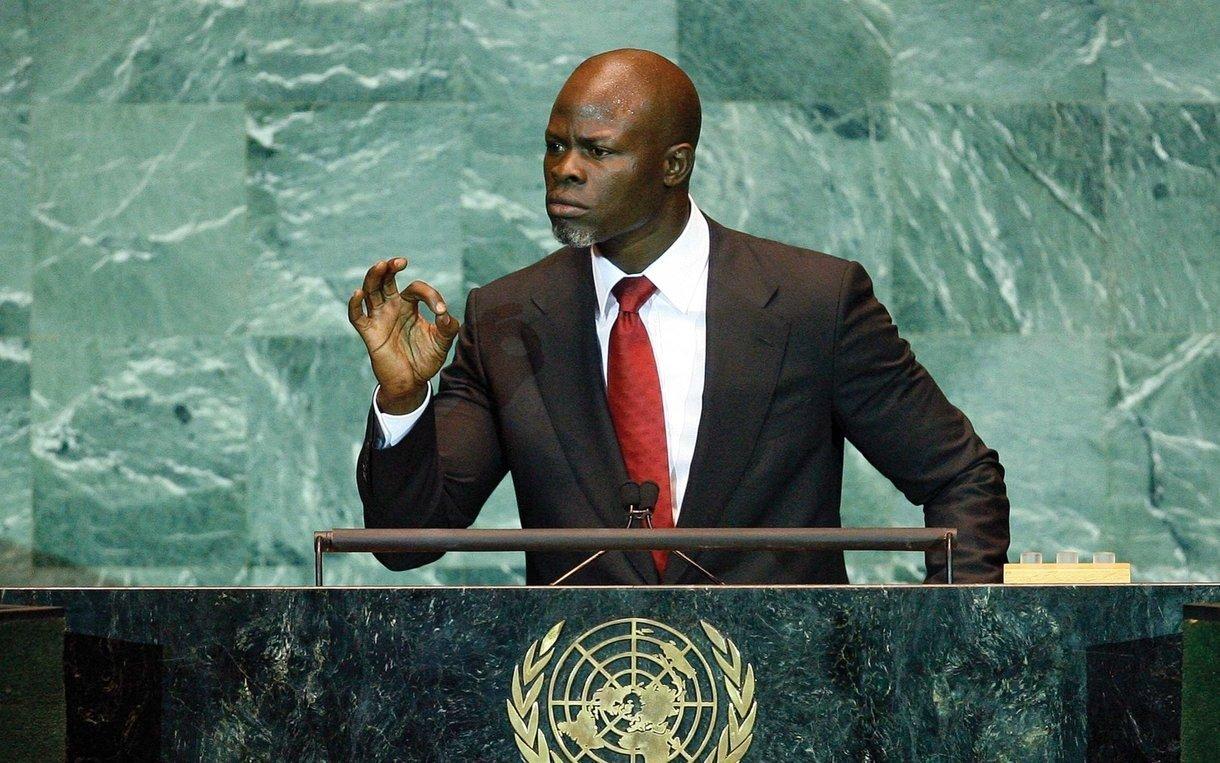 Djimon Hounsou au Nations Unies