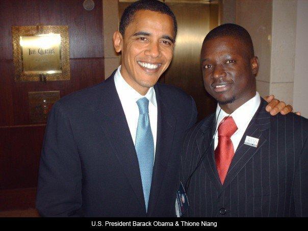Thione niang et Barack Obama